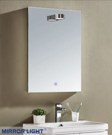 Colin Overhead Wall Mounted Mirror with Lights