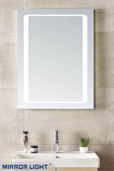 Lawrence Slim Bathroom Mirror with Lights