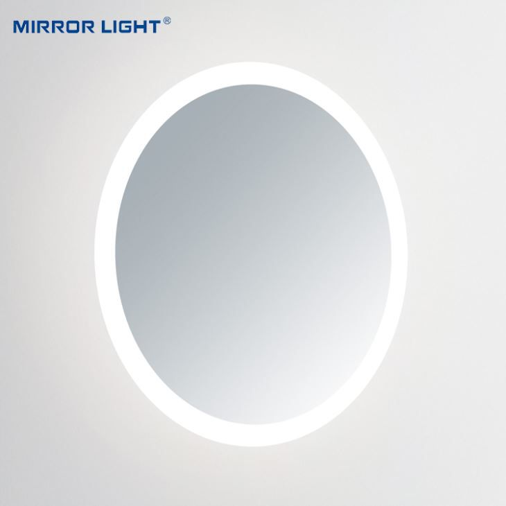 Moon Backlit Circular Mirror with Lights
